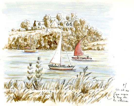 Bateau sur la Vilaine