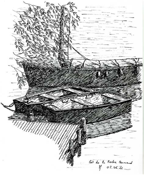 Barques sur le port de la Roche Bernard